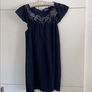 BCBG Flutter Sleeve Dress
